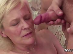 Young Seduce Grandma to get First Fuck and lost His Virgin tube porn video