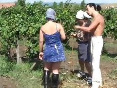 Chubby sexy chick getting fucked in the farm tube porn video