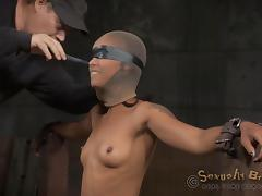 Blindfolded and fucked without mercy during an intense bdsm action tube porn video