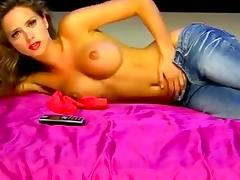 Topless Beauty In Jeans On Erotic tube porn video