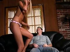 Stupefying blonde woman wants to bounce on a stiff dick tube porn video