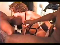 chrissie vintage wife black special leather top strop tube porn video