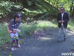 German punk Teen swallows old cream tube porn video