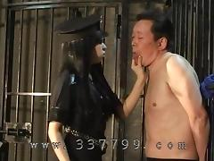 Mistress lets put slave in prison, to lick pussy tube porn video