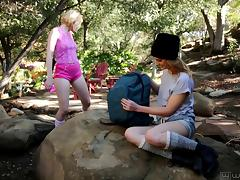 Kristen Scott and Chloe Couture love to play lesbian games tube porn video
