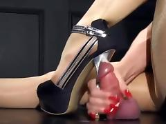 long nails, handjob, CS tube porn video