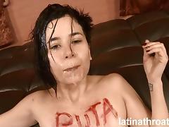 Latina Throats Mae White throat fucked and degraded tube porn video
