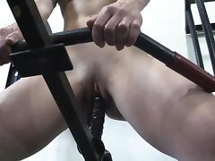 Innovative Gym Masturbation with a Dildo tube porn video