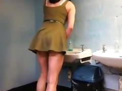 Crossdresser dress show tube porn video