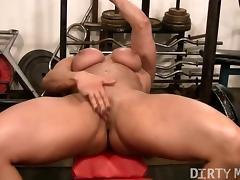 Blonde British Muscle Bombshells Big Clit tube porn video