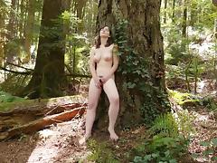 Sweet Raven Masturbating Outdoors tube porn video