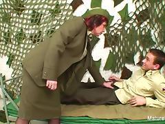 Military grandma fucks him in the barracks tube porn video
