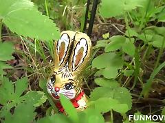 Austrian Teen found a real easter bunny tube porn video