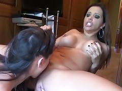 Crazy pornstars Francesca Le and Georgia Jones in hottest brunette, cunnilingus porn movie tube porn video