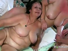 Grannies get lucky with each other tube porn video