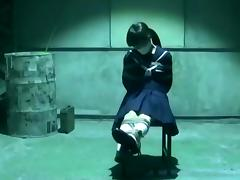 Japanese School Girl in Bondage Basement tube porn video