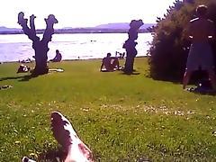 Cumming on the nudist beach tube porn video