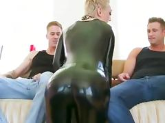 Anal and dp for a shorthaired latex lady tube porn video
