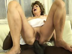 Hairy Old Pussy and Ass FUCK with big cock black man tube porn video
