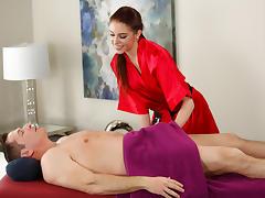 John Strong enjoys stress relief massage tube porn video