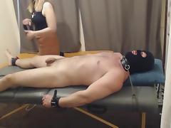 Ballbusting handjob and cbt  tickling tube porn video
