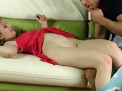 Cute cutie stretches wet vagina and gets deflorated tube porn video
