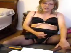 Hottest Amateur Shemale movie with Masturbation, Lingerie scenes tube porn video