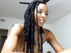 Sexy ebony ass bouncing on webcam tube porn video