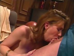 Sexy blondie deep throats a huge pole before getting fucked hard tube porn video