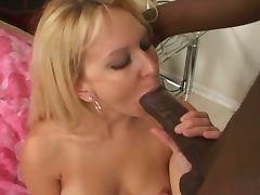 Blonde milf gets a nice big black cock tube porn video