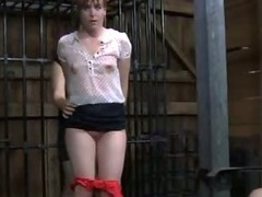 Sexy hot girl in bondage action tube porn video