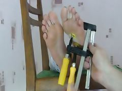 Foot torture clamps tube porn video