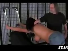 Bit Tit Brunette Whipped And Dominated tube porn video