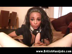 Black slut gets rough with a dick POV tube porn video