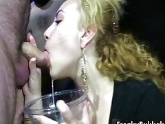 Dirty blonde slut gets horny getting tube porn video