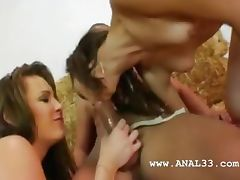 two girsl intercourse anal with guy tube porn video