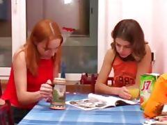 Masha and Ivana teenies peeing on toilet tube porn video