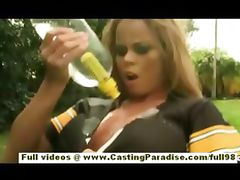 Nikki Delano amateur gorgeous blonde teen fingering outdoor tube porn video