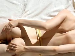 Chick bounds on big dildo tube porn video