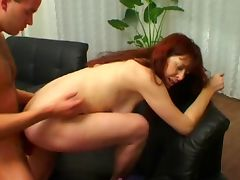 Amateur RedHead MILF Marie Fucks Younger Guy tube porn video