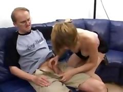 Cute German girl is back for a gangbang tube porn video