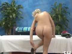 She gets pussy massaged tube porn video