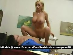 Busty naked blonde slut at work in the office tube porn video