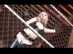 Blond in Leather tube porn video