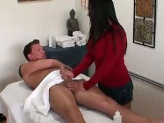 Slutty Masseuse Jerks Client For Cash tube porn video