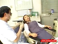Office Lady Getting Her Nipples Sucked Hairy Pussy Licked And Fingered By The Dentist In The Surgery tube porn video