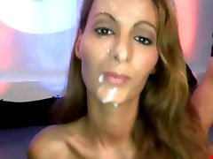 Bukkake fetish slut fuck suck and facial tube porn video
