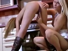 Two horny hotties get dirty with each other tube porn video