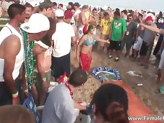 Hard party time on the beach and babes tube porn video