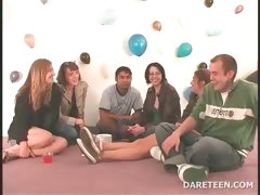 Truth or dare sexgame with horny teens tube porn video